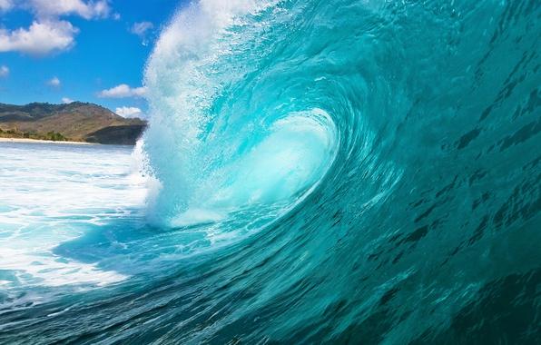 Картинка море, вода, брызги, океан, волна, sea, ocean, blue, seascape, wave