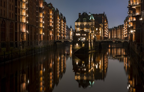 Картинка Reflection, Hamburg, Hamburg-Mitte