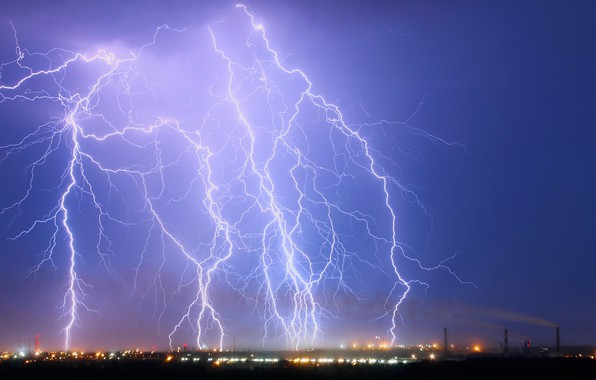 Картинка гроза, природа, дождь, ураган, погода, мония
