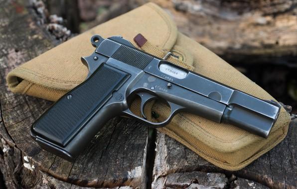 Фото обои оружие, Inglis, макро, пистолет