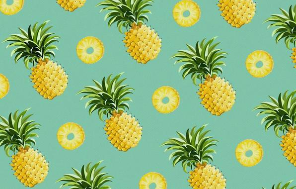 Картинка еда, вектор, ананас, плод
