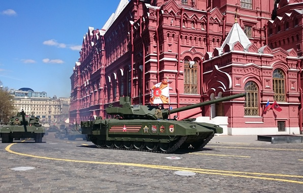 Картинка парад, российский, Армата, Т-14, основной танк