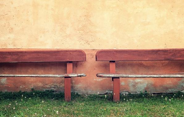 Картинка трава, дом, скамья