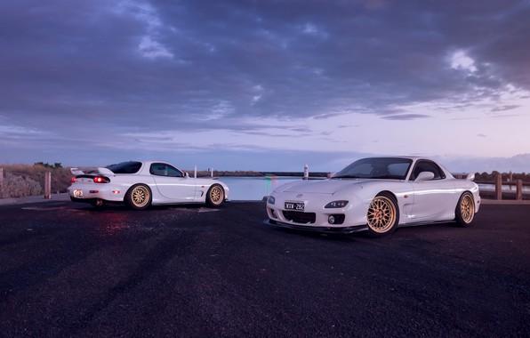 Фото обои Mazda, Cars, White, RX-7, Sport