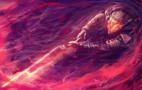 Картинка sword, game, armor, anime, power, man, fight, ken, blade, Berserk, evil, asian, warrior, manga, japanese, …