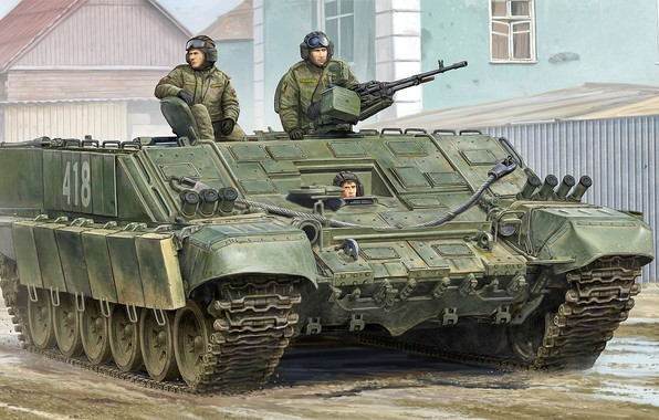 Картинка рисунок, art, russian, российская, Heavy flamethrower personnel carrier, Боевая машина огнеметчиков-тяжелая, БМО-Т