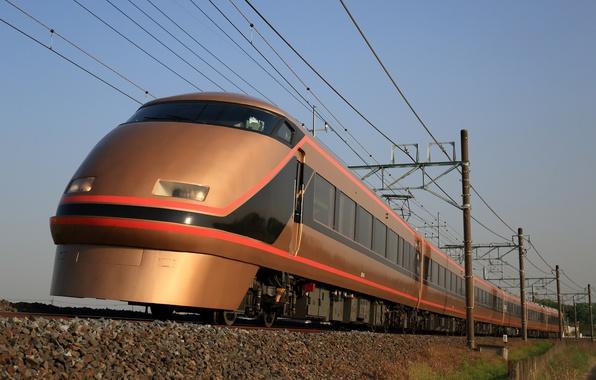 Картинка поезд, скорость, вагоны