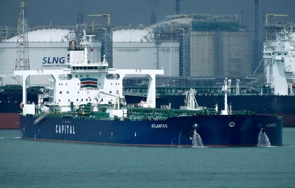 Фото обои корабль, терминал, газовоз, порт