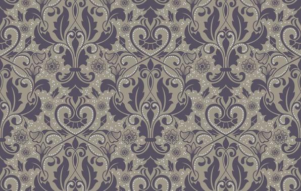 Картинка фон, vector, текстура, texture, background, pattern, ornament, seamless, damask