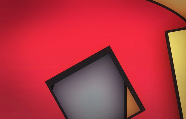 Картинка линии, краски, угол, объем, квадрат, слой