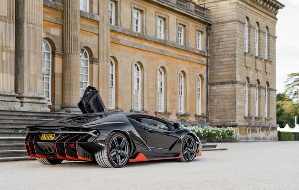 Картинка чёрный, Lamborghini, суперкар, Centenario, Lamborghini Centenario LP 770-4, LP 770-4