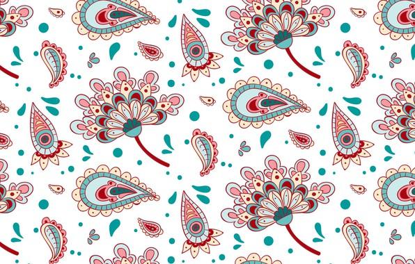 Картинка цветы, узор, текстура, орнамент, пейсли