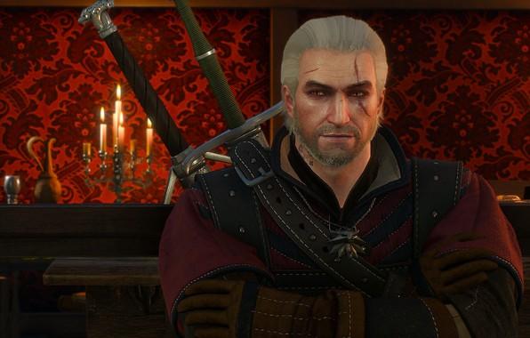 Картинка ведьмак, Геральт, hunter, протагонист, The Witcher 3 Wild Hunt, Geralt