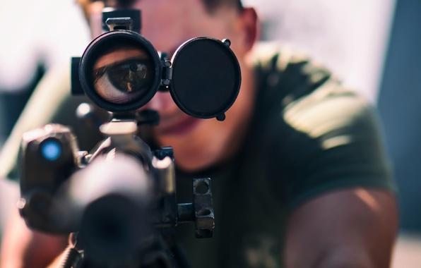 Картинка Sniper, Eyeballs Click, M-110 Semi-Automatic Sniper System rifle