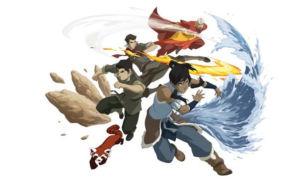 Картинка вода, огонь, земля, стихия, магия, мультфильм, фэнтези, арт, воздух, Avatar, Аватар, детская, La Légende de …