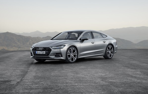 Картинка Audi, German, 2018, Silver, Premium, A7