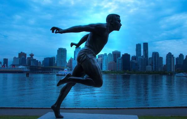 Картинка дома, Канада, Ванкувер, скульптура, Стэнли-парк