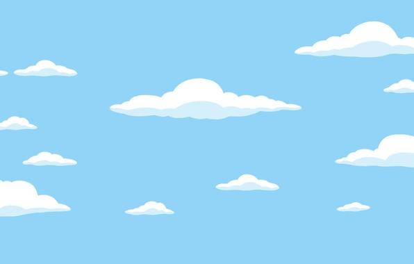Картинка Облака, Симпсоны, Рисунок, Фон, Simpsons, Арт, Начало, Мультфильм, The Simpsons, 20th Century Fox, Персонаж, Мультсериал, …