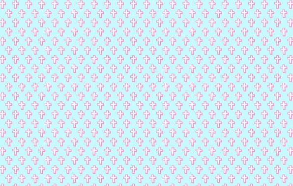 Картинка белый, розовый, голубой, крест, текстура
