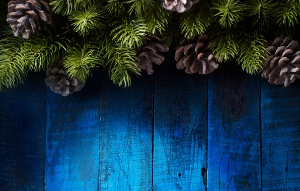 Картинка украшения, елка, Новый Год, Рождество, happy, Christmas, vintage, шишки, wood, New Year, Merry Christmas, Xmas, …