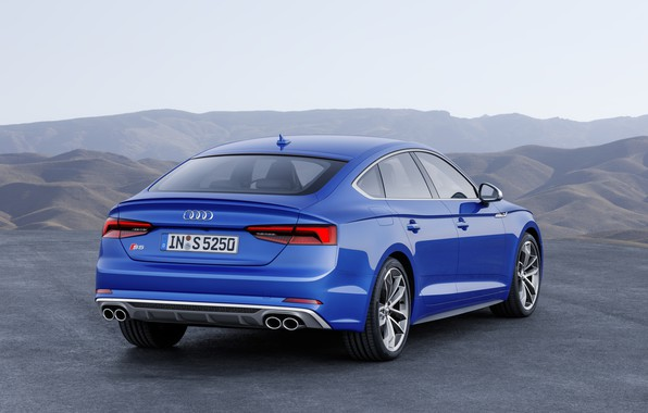 Фото обои German, S5, A5, Blue, 2018, Audi