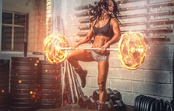 Картинка power, brunette, workout, fitness, burn