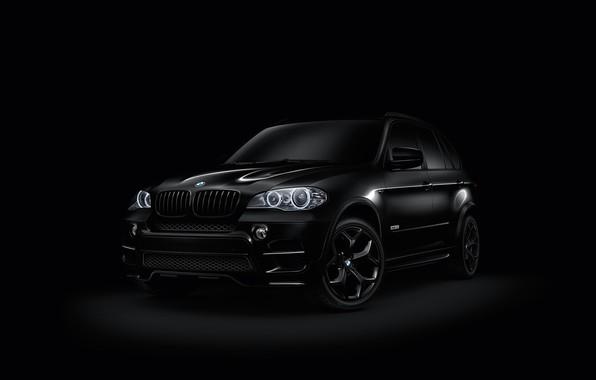 Картинка черный, BMW, автомобиль