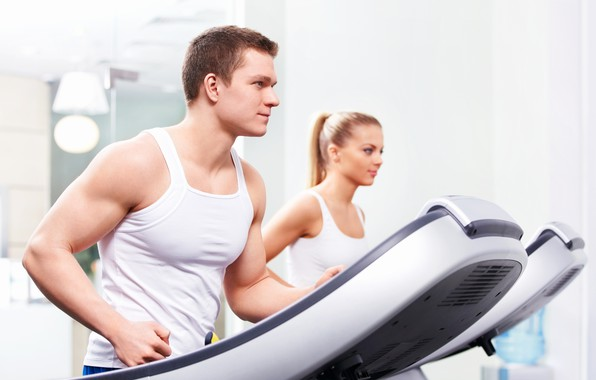 Картинка focus, exercise, guy, fitness, gym, strong, healthy, weight loss, treadmill, treadmill workout, breathe, fit body