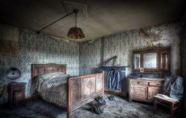 Картинка комната, мебель, кровать