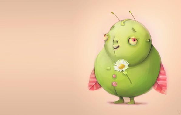 Картинка букашка, ромашка, арт, beetle, детская, Ula Wigierska