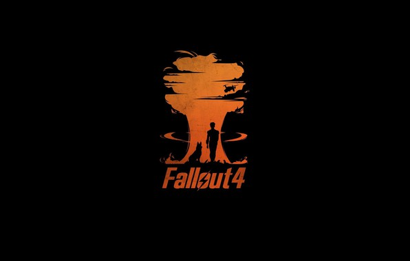 Картинка Минимализм, Игра, Взрыв, Цифры, Фон, Fallout, Bethesda Softworks, Bethesda, Bethesda Game Studios, Fallout 4, Бетезда