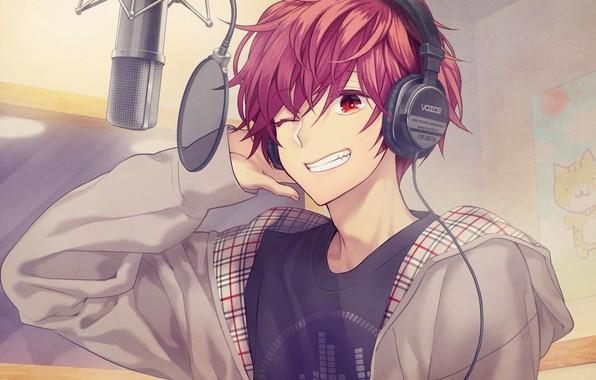 Красивый парень аниме арт
