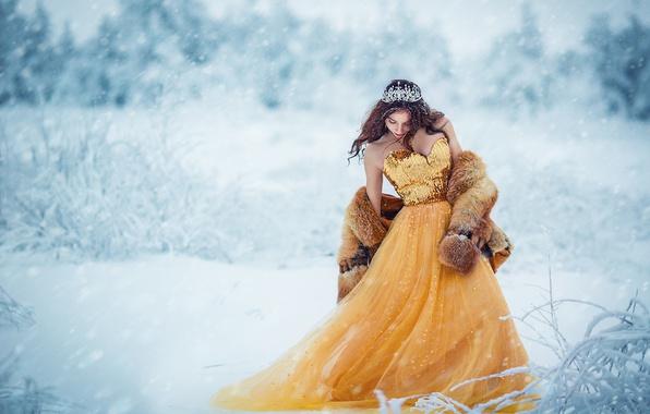 Зимняя фотосессия в красивых платьях