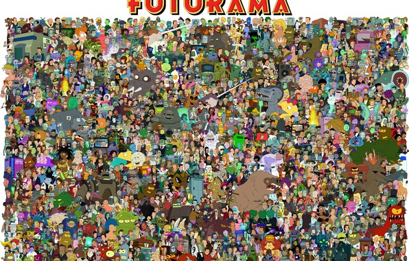 Картинка Постер, Родригес, Бендер, Футурама, Zoidberg, Зойдберг, Futurama, Фрай, Rodriguez, Bender, Эми, Fry, Bender Bending Rodriguez, …