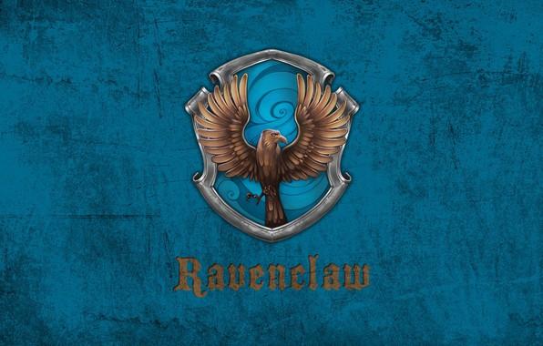 Картинка Ворон, эмблема, Hogwarts, Хогвартс, коготь, Ravenclaw, Когтевран, факультет, Кандида Когтевран, Ума палата дороже злата