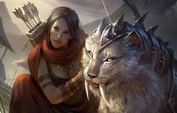 Картинка фэнтези, арт, Legend of the Cryptids, Fajareka Setiawan, фрагменет, Brea the Untamed (Reg)