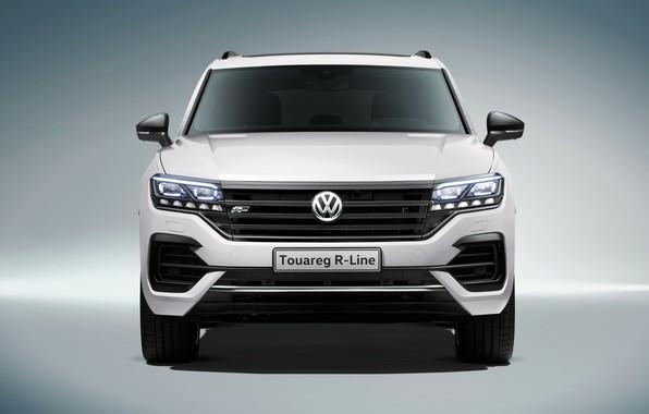Картинка фары, Volkswagen, вид спереди, Touareg, 2018, R-Line