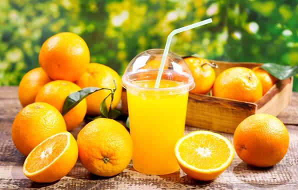 Картинка Стакан, Апельсин, Еда, Сок, Цитрусовые