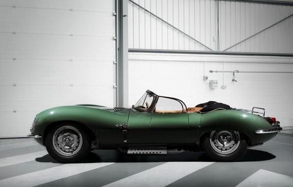 Картинка свет, полосы, фон, Jaguar, зелёный, XKSS