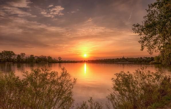 Картинка пейзаж, закат, природа, красота