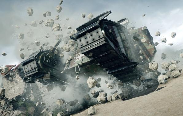 Картинка война, игра, танк, Electronic Arts, Battlefield 1