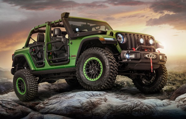 Фото обои 2018, Wrangler, Jeep, Unlimited Rubicon Moparized