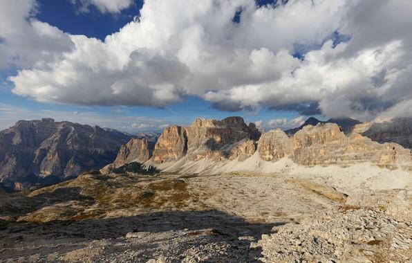 Картинка небо, облака, горы, Италия, Доломитовые Альпы, Dolomiti