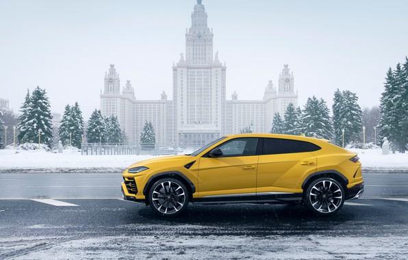 Картинка Lamborghini, Москва, МГУ, Moscow, 2018, Urus