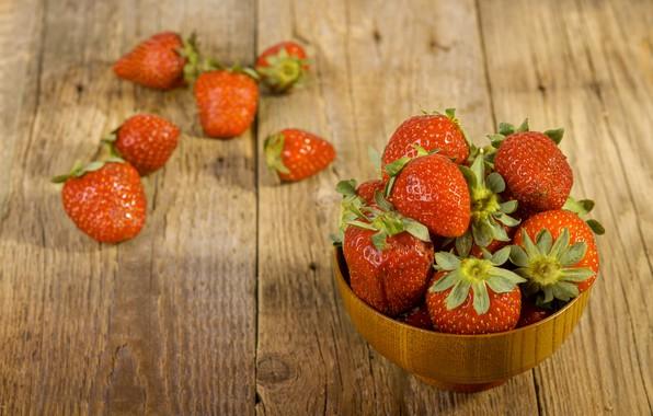 Картинка клубника, ягода, спелая, вкусная, сочная