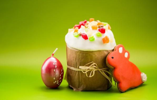 Картинка свеча, печенье, пасха, Праздник, кулич