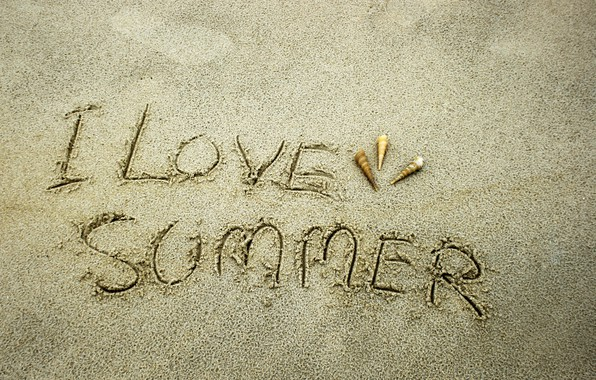 Картинка песок, море, пляж, лето, ракушки, summer, love, beach, sea, sand, seashells