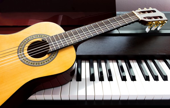 Картинка музыка, Гитара, Пианино