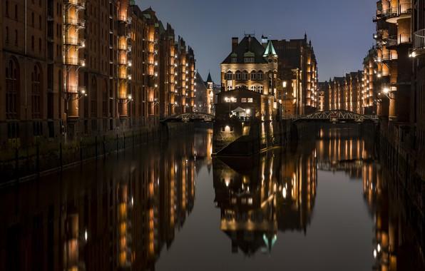 Картинка ночь, город, архитекектура