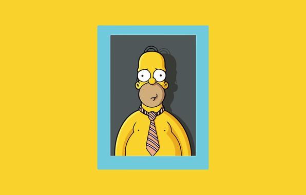 Картинка Симпсоны, Рисунок, Рамка, Гомер, Simpsons, Арт, Мультфильм, The Simpsons, Homer Simpson, Гомер Симпсон, Homer, 20th …
